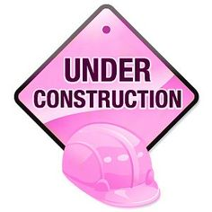 under constrction pink